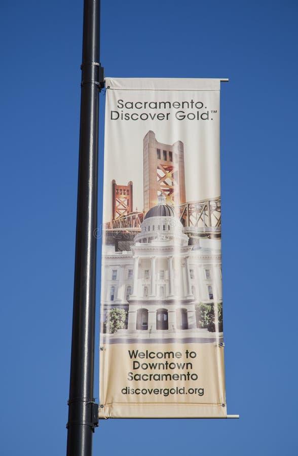 Welcome to Sacramento sign stock image