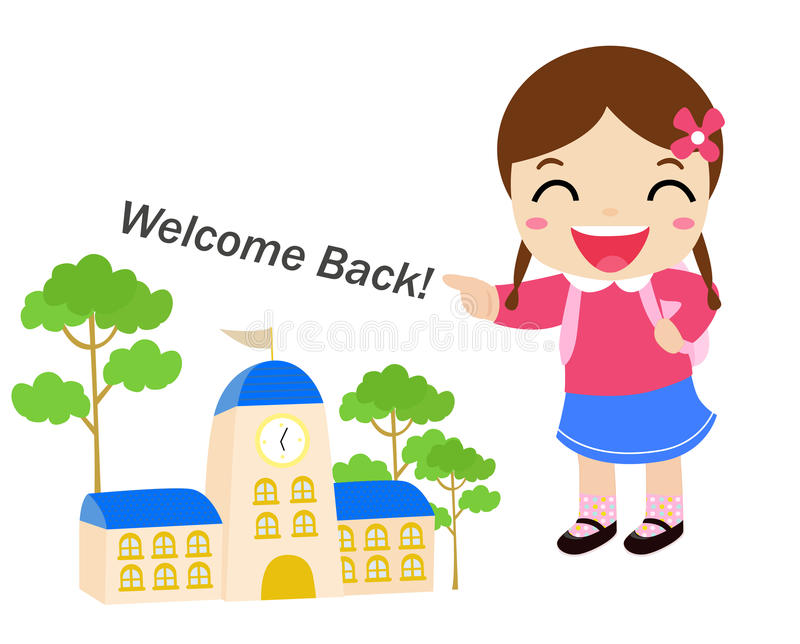 Welcome to school royalty free illustration