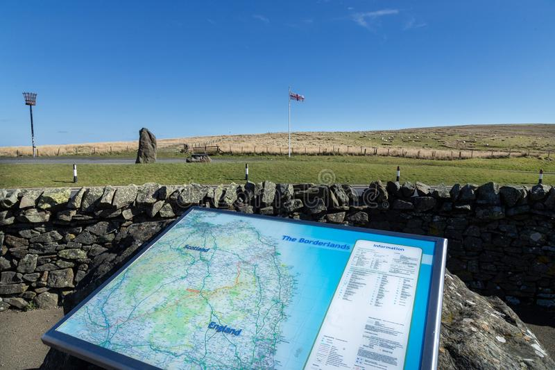Touristic map at the Scottish Border royalty free stock images
