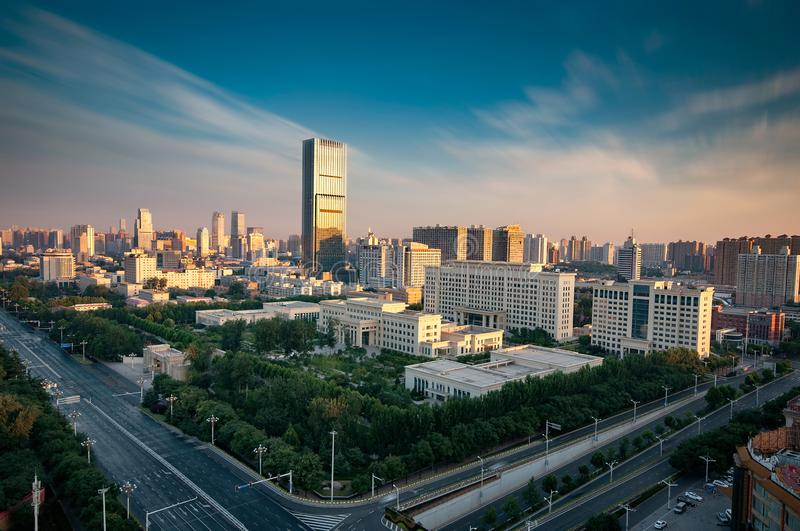 Welcome to Shijiazhuang, China. China shijiazhuang city skyscraper highway royalty free stock photos