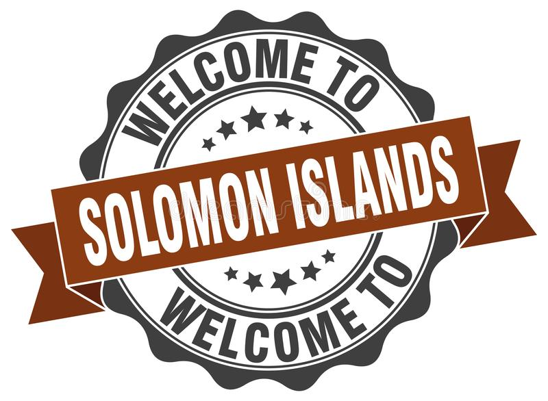 Welcome to Solomon Islands seal royalty free illustration