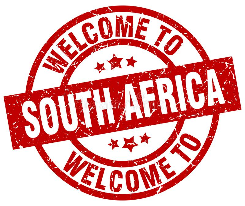 Welcome to South Africa stamp. Welcome to South Africa round grunge stamp isolated on white background. South Africa. welcome to South Africa royalty free illustration
