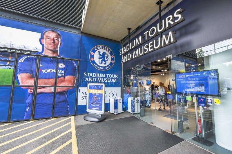 Welcome to Stamford Bridge Stadium stock image