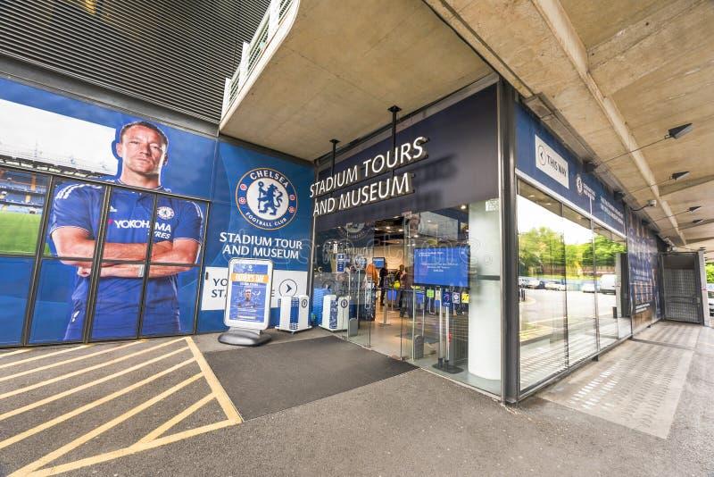 Welcome to Stamford Bridge Stadium stock photography