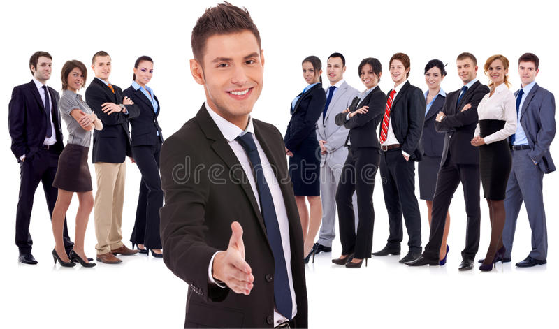 Welcome to the team royalty free stock image