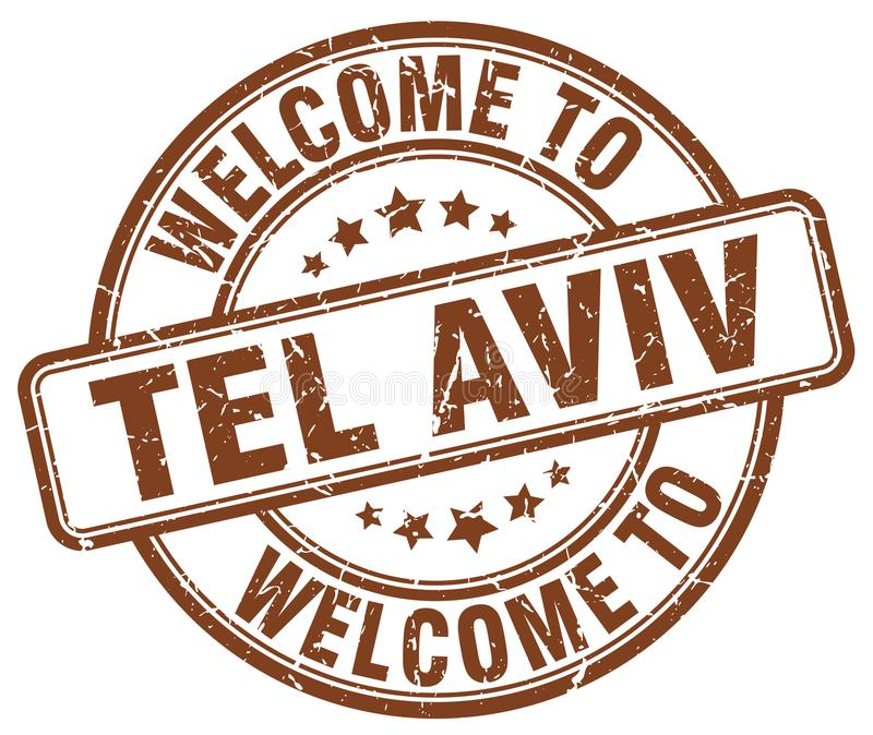 Welcome to Tel Aviv stamp. Welcome to Tel Aviv round grunge stamp isolated on white background. Tel Aviv. welcome to Tel Aviv royalty free illustration