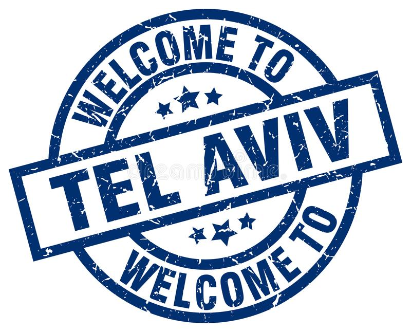 Welcome to Tel Aviv stamp. Welcome to Tel Aviv round grunge stamp isolated on white background. Tel Aviv. welcome to Tel Aviv vector illustration
