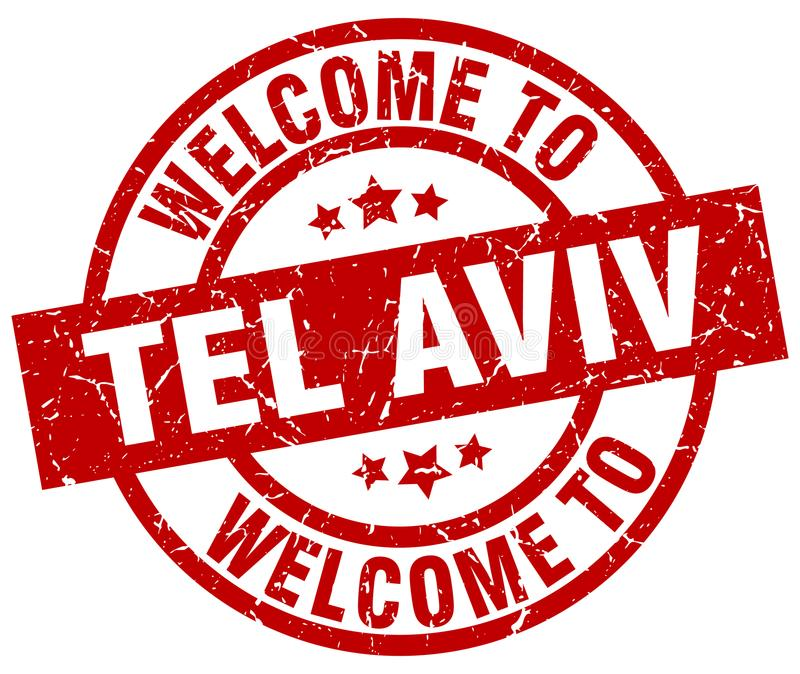 Welcome to Tel Aviv stamp. Welcome to Tel Aviv round grunge stamp isolated on white background. Tel Aviv. welcome to Tel Aviv stock illustration