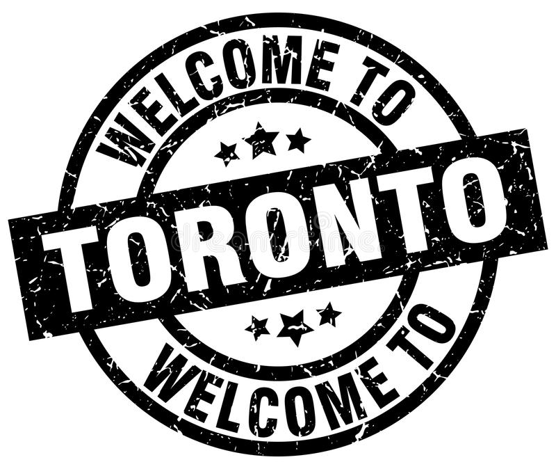 Welcome to Toronto stamp. Welcome to Toronto round grunge stamp isolated on white background. Toronto. welcome to Toronto royalty free illustration