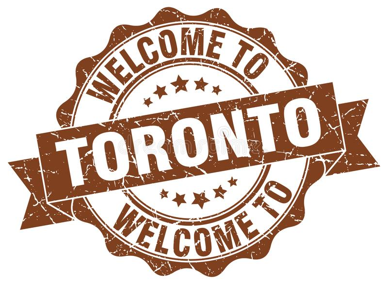 Welcome to Toronto seal. Welcome to Toronto round vintage seal vector illustration