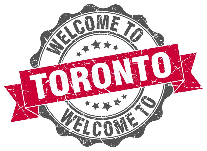 Welcome to Toronto seal. Welcome to Toronto round vintage seal stock illustration