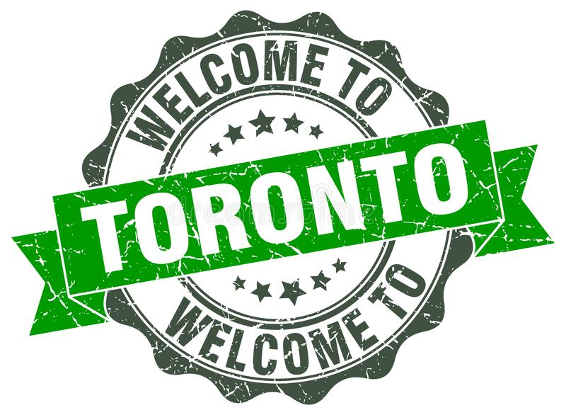 Welcome to Toronto seal. Welcome to Toronto round vintage seal royalty free illustration