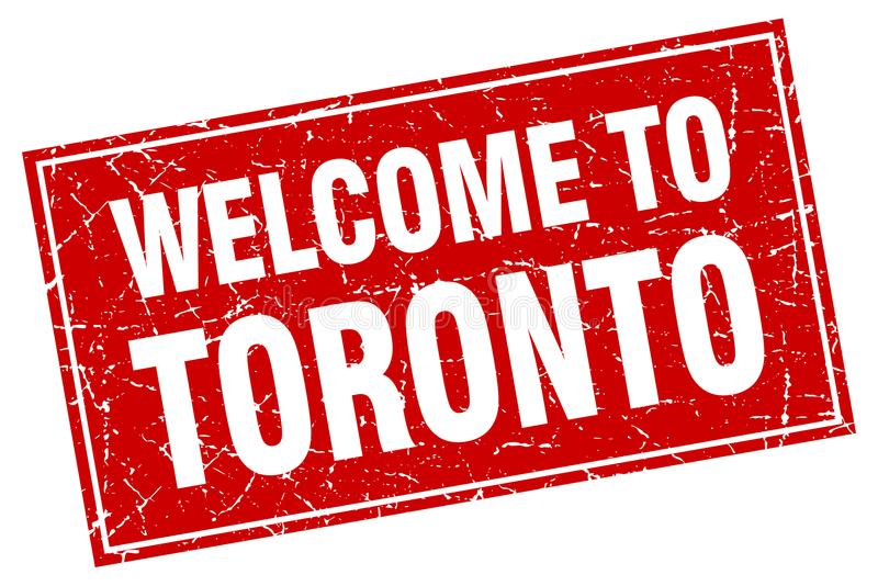 Welcome to Toronto stamp. Welcome to Toronto square grunge stamp. Toronto sign. welcome to Toronto royalty free illustration