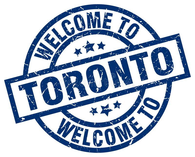 Welcome to Toronto stamp. Welcome to Toronto round grunge stamp isolated on white background. Toronto. welcome to Toronto vector illustration