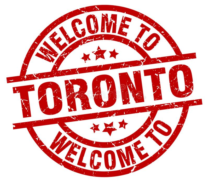 Welcome to Toronto stamp. Welcome to Toronto round grunge stamp isolated on white background. Toronto. welcome to Toronto stock illustration