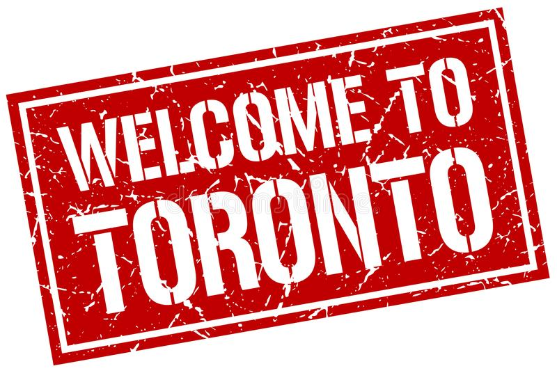 Welcome to Toronto stamp. Welcome to Toronto square grunge stamp isolated on white background. Toronto vector illustration