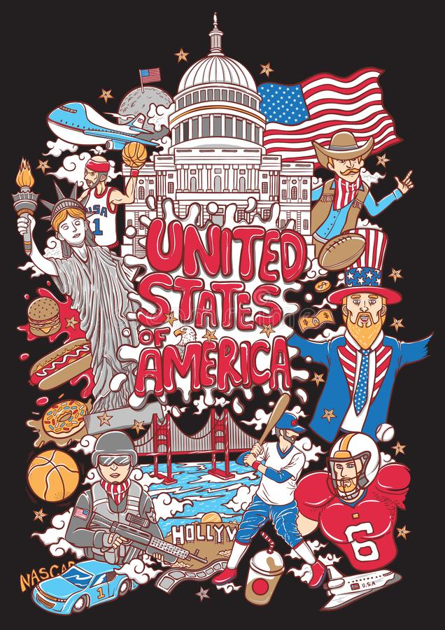 Welcome to united states of america illustration vector illustration