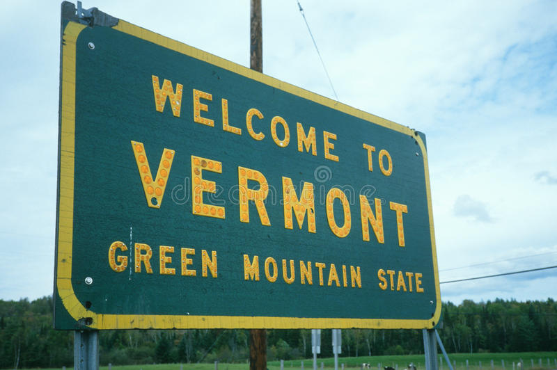 Download Welcome to Vermont Sign stock image. Image of sign, hospitality - 23169603