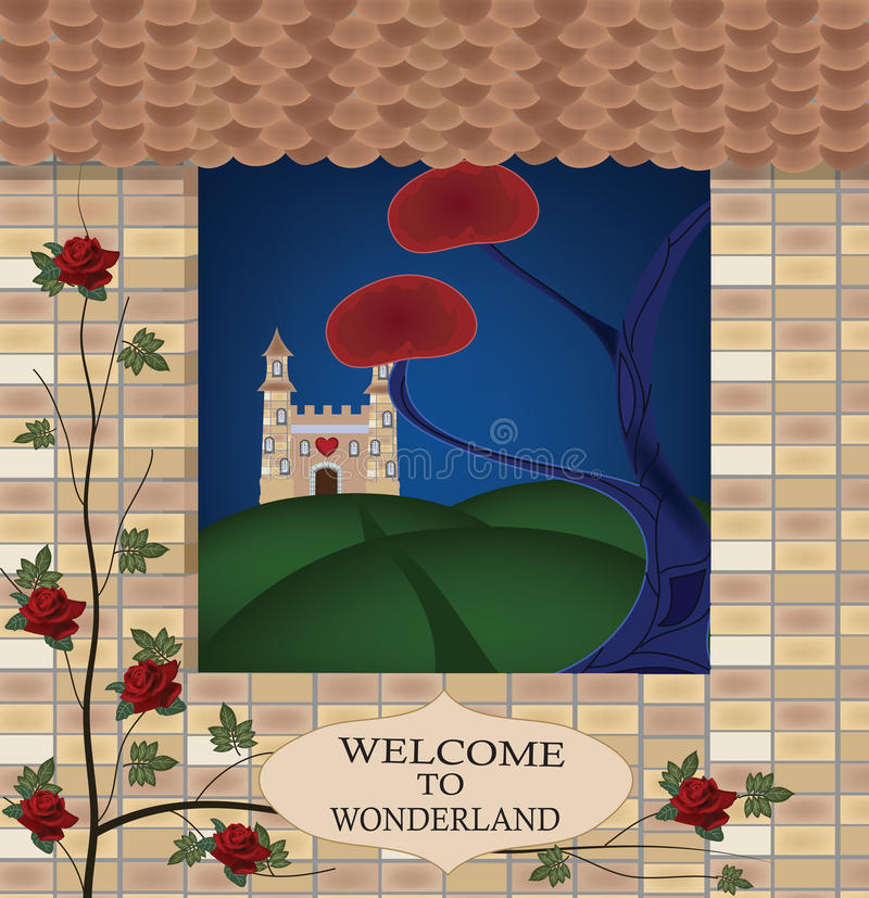 Welcome To Wonderland Stock Images