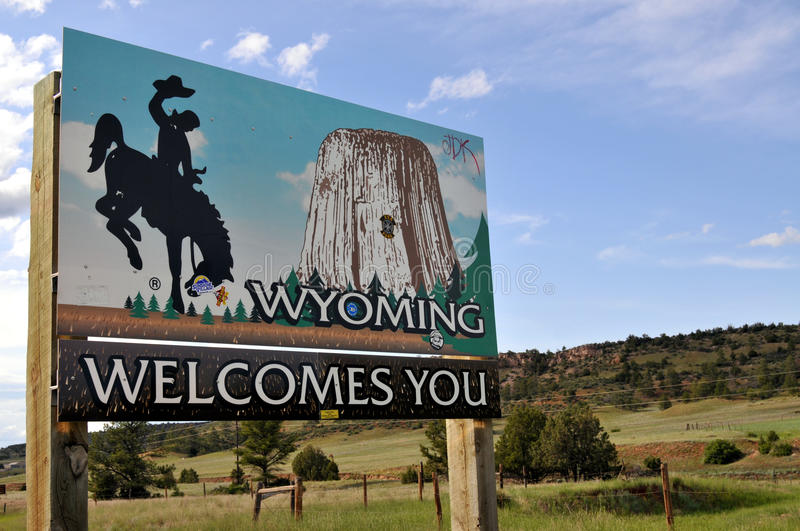 Welcome to Wyoming stock images