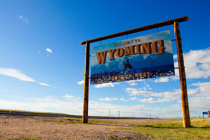 Welcome to Wyoming - Forever West royalty free stock photo