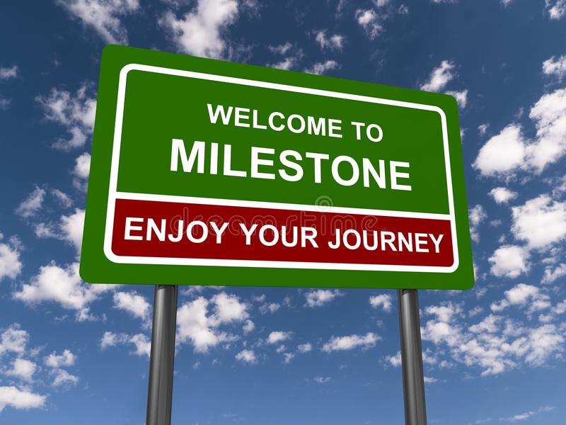 Welcome To Milestone Sign stock images