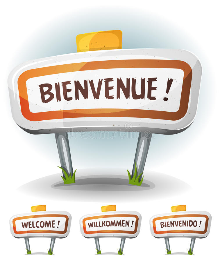 Welcome Town Or City Sign vector illustration