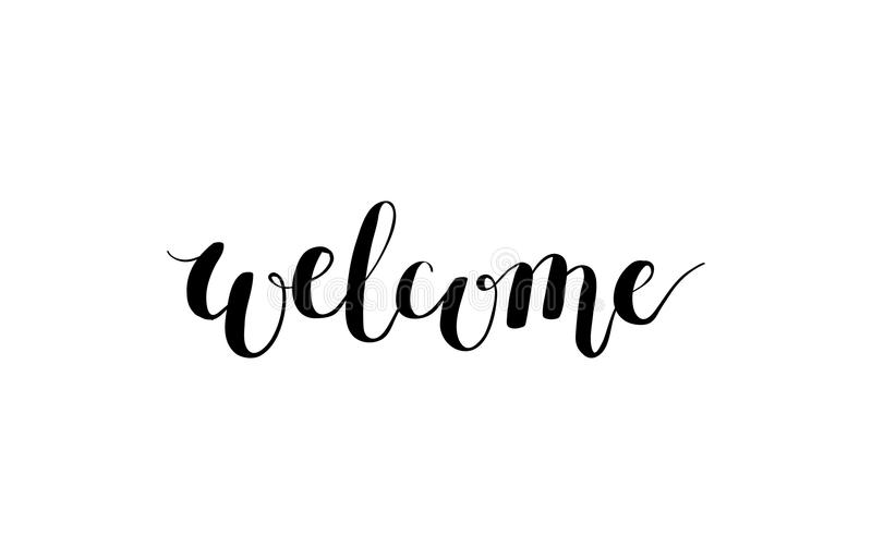 Welcome vector hand drawn calligraphy lettering for your