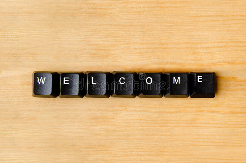 Welcome word stock images