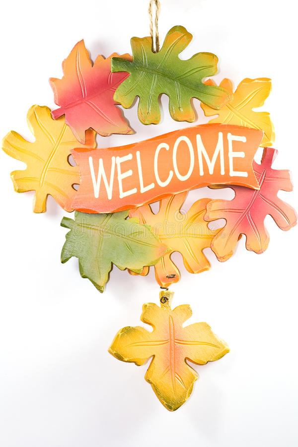 Welcome wreath. royalty free stock photo