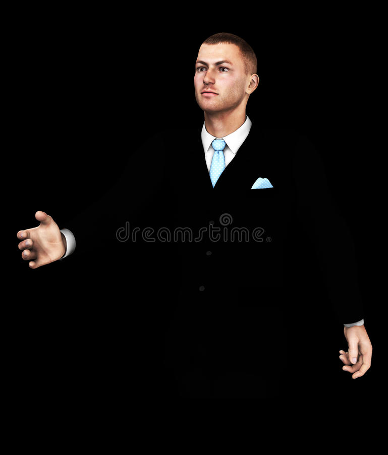 Welcoming Man Stock Photography