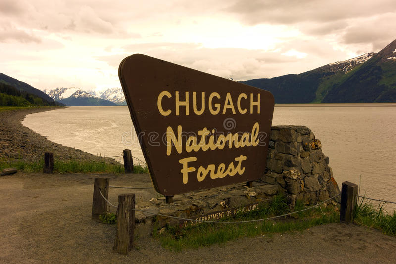 Download A Welcoming Sign At The Chugach National Forest Editorial Photography - Image of freezing, masonry: 46060342