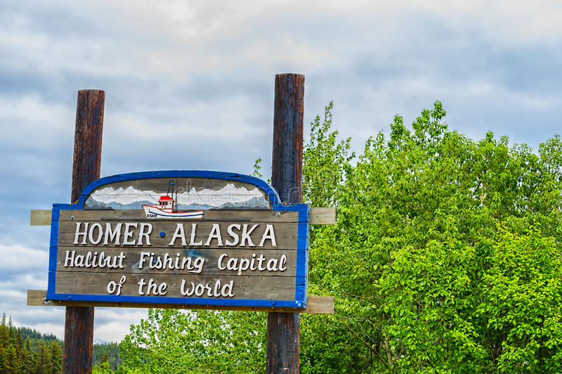 Download Welcoming Sign Homer Alaska Editorial Image - Image of northwest, america: 97116210