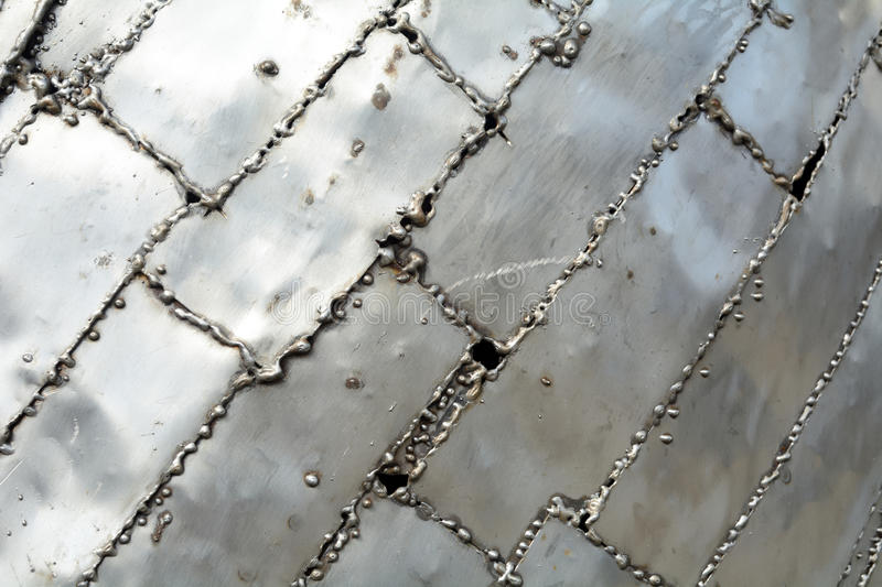 Welded metal plates royalty free stock images
