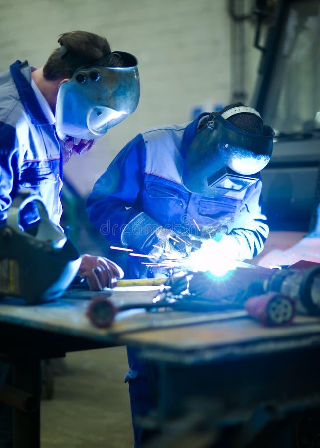 welder тренировки образования стоковые фотографии rf