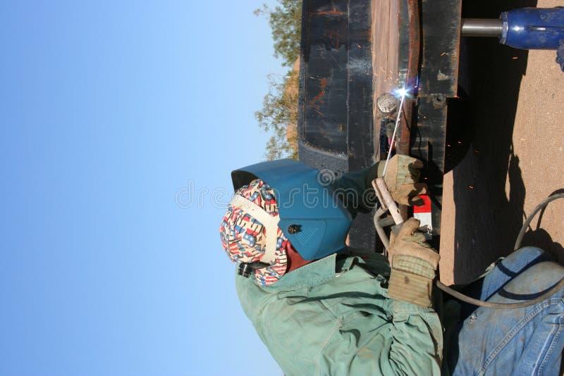 welder человека дуги стоковое изображение