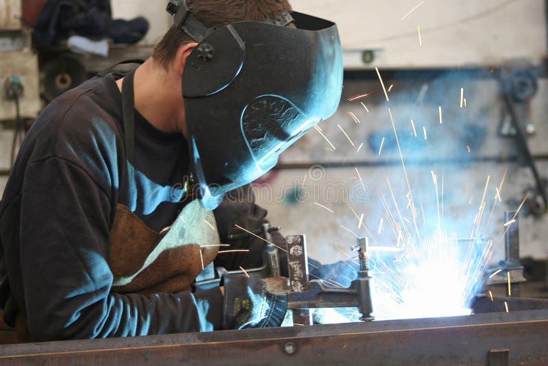 The welder stock photo