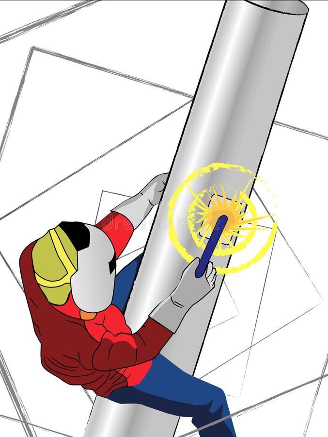 Welder stock illustration