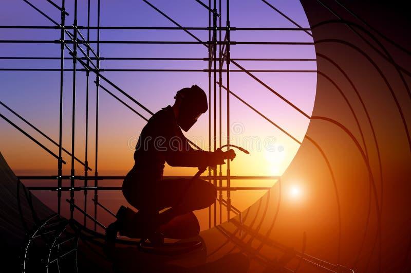 Download The welder. stock illustration. Image of builder, architecture - 25223150