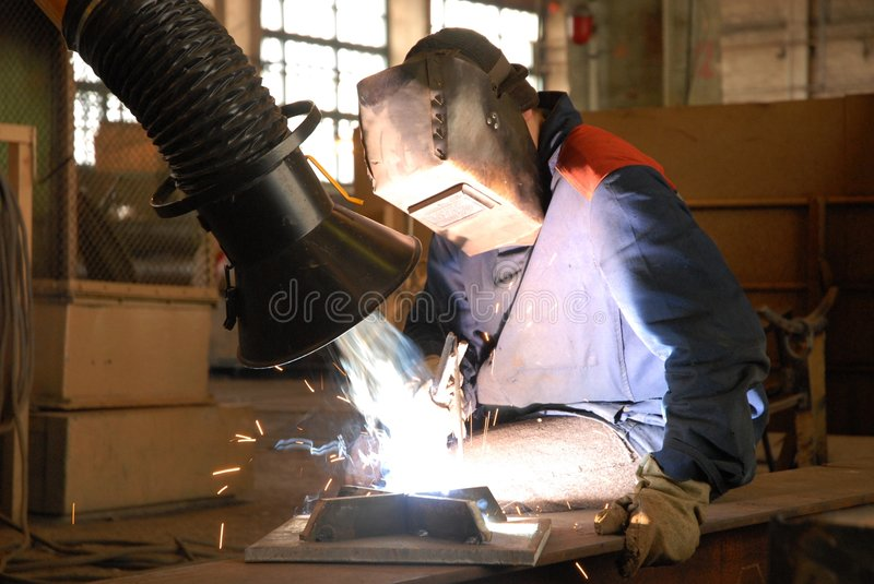 The welder royalty free stock photo