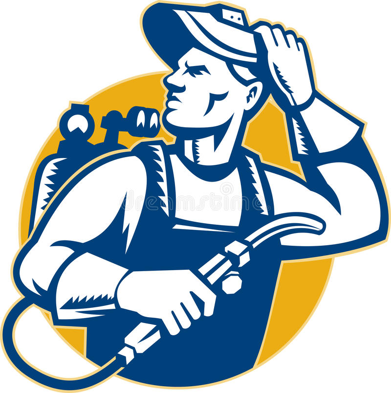 Download Welder Fabricator Welding Retro Style Stock Illustration - Image: 23124935