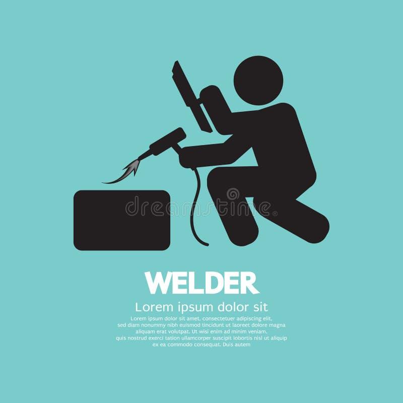 Welder Graphic Sign vektor illustrationer