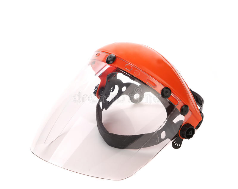 Welder or grinders face shield. stock photography