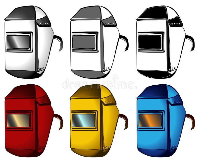 Download Welder, Masks, Set Of Different Colors Stock Vector - Image: 25902210