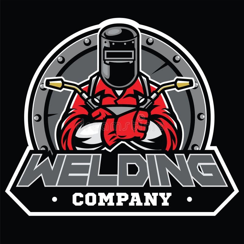 Free Welder Wearing Welding Helmet Pose In Badge Stock Photography - 138952912