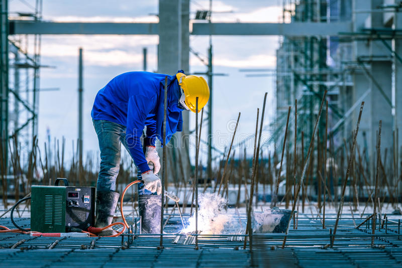 Welder welding worker royalty free stock images