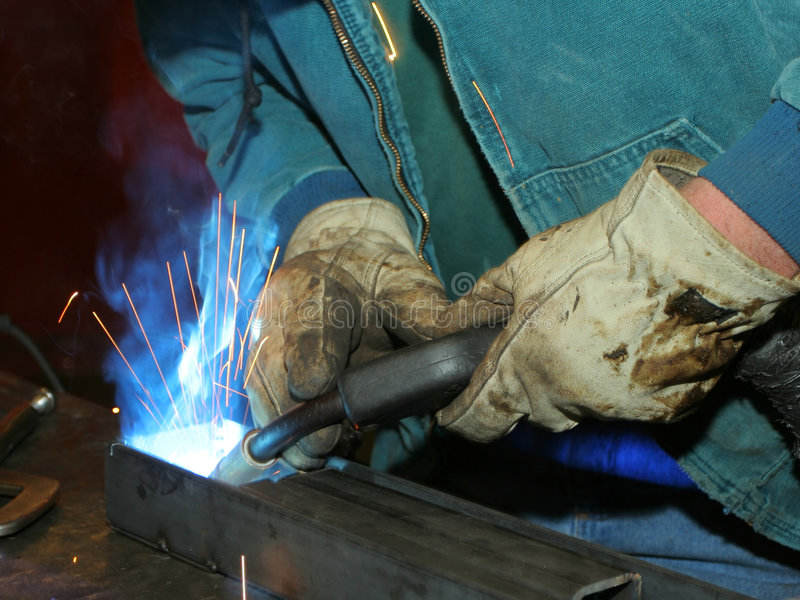Welder At Work Royalty Free Stock Photo