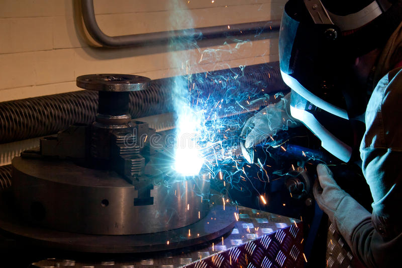 Download Welder at work stock image. Image of sparks, ironworker - 22145049