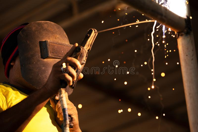 Welder at work royalty free stock images