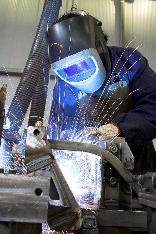 Free Welder Working In Industry Royalty Free Stock Photo - 3764335